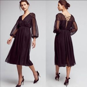 Nomad Morgan Carper Silk Midi Dress Black